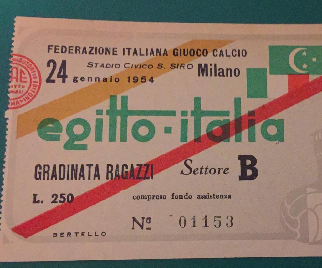 Risultati immagini per italia egitto 1954