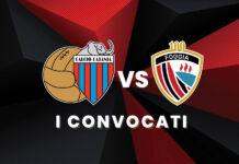 Convocati Catania-Foggia