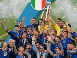 Italia Campione d'Europa, la premiazione