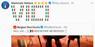 Retweet Italia Belgio